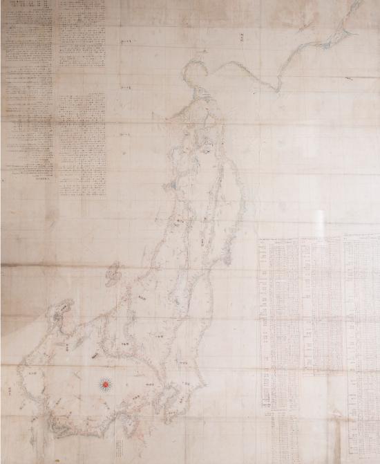 伊能忠敬(勘解)関東・東北・北陸謹図 江戸時代後期(1804年)