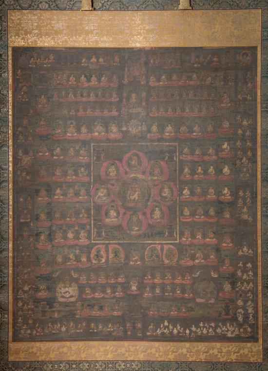両界曼荼羅図 平安時代後期(1100年頃)
